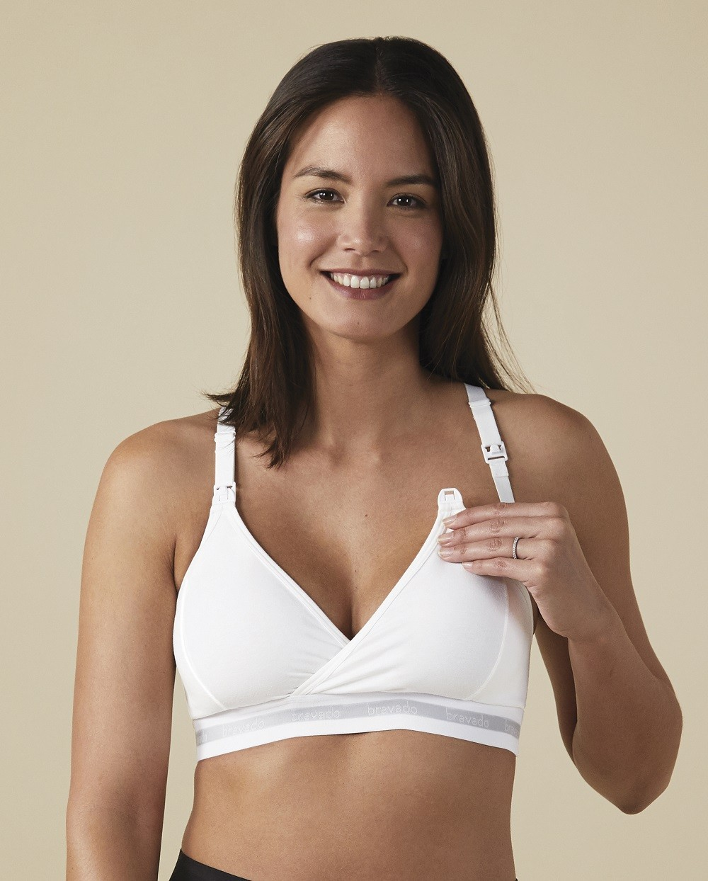 Bravado Nursing Bra Original White For Cups  B-D Sizes